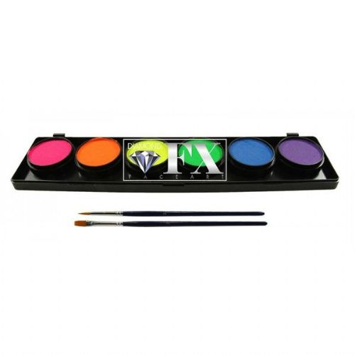 Diamond FX Neon Face Paint Palette